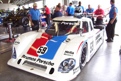 La Porsche Porsche Riley n°59 du Brumos : Hurley Haywood, JC France