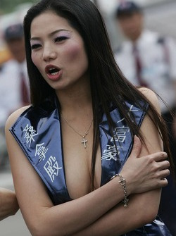 A lovely hostess
