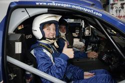 Volkswagen Motorsport test at Strandkai Beach Resort, Hamburg: Taxi drive