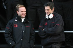 Rubens Barrichello and Jacky Eaklehardt, Honda Racing F1 Team