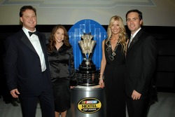 NASCAR Chairman and CEO Brian France, ex-wife Megan Garcia, Chandra Johnson and Jimmie Johnson pose for a photo following the 2006 NASCAR NEXTEL Cup Series Awards Ceremony