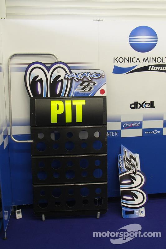 Le garage de Konica Minolta Honda
