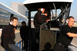 Marco Andretti prepares for his test on Friday with Honda Racing F1 Team