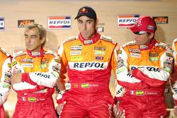 Team Repsol presentation in Barcelona: Gilles Picard, Nani Roma and Stéphane Peterhansel