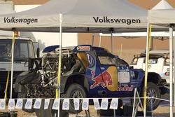 Volkswagen Motorsport test in Dubai: service area