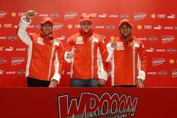 Press conference: Luca Badoer, Kimi Raikkonen and Felipe Massa