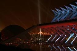 Spektakuläre Kulisse in Valencia