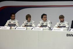 Timo Glock, Sebastian Vettel, Robert Kubica and Nick Heidfeld