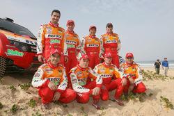 Team Repsol Mitsubishi Ralliart drivers and codrivers