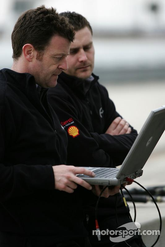 L'équipe Penske Racing au travail