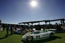 Historic cars display in the fanzone