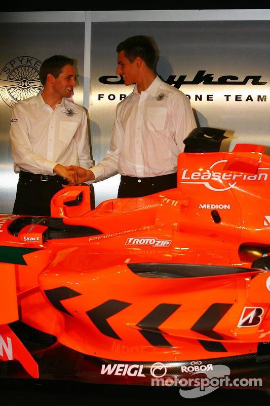 Christijan Albers und Adrian Sutil, Spyker-Ferrari