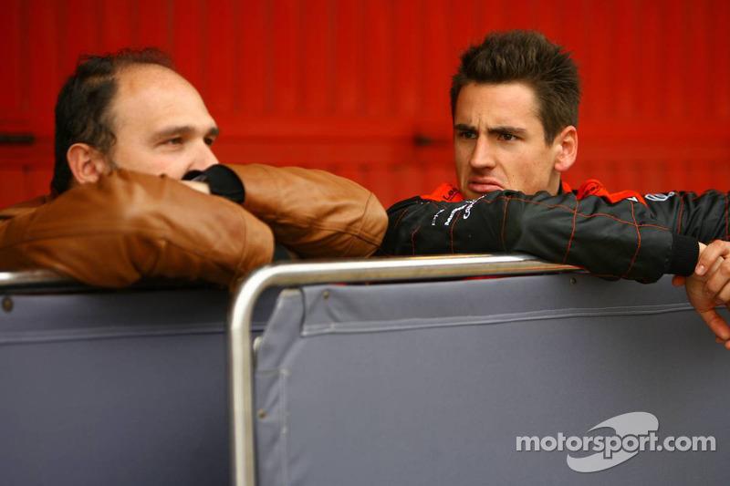 Колін Коллес, керівник команди Spyker F1 Team, та Адріан Сутіль