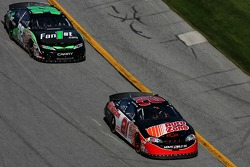 Kevin Harvick leads Dave Blaney