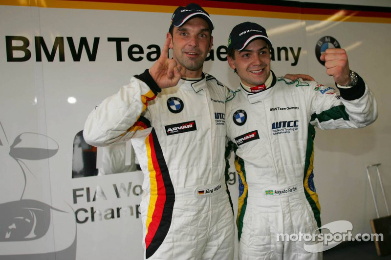 Pole position, Jorg Muller, BMW Team Germany, BMW 320si WTCC et Augusto Farfus, BMW Team Germany, BMW 320si WTCC