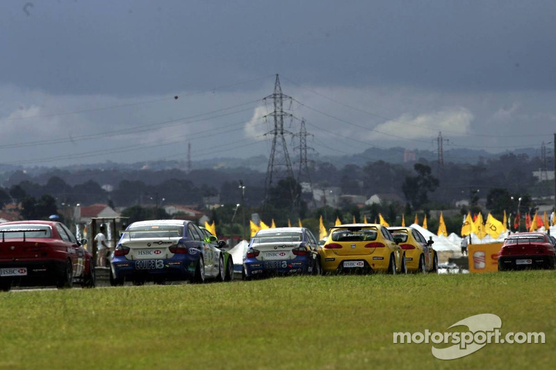 Michel Jourdain, SEAT Sport, SEAT Leon et Luca Rangoni, Proteam Motorsport, BMW 320si WTCC