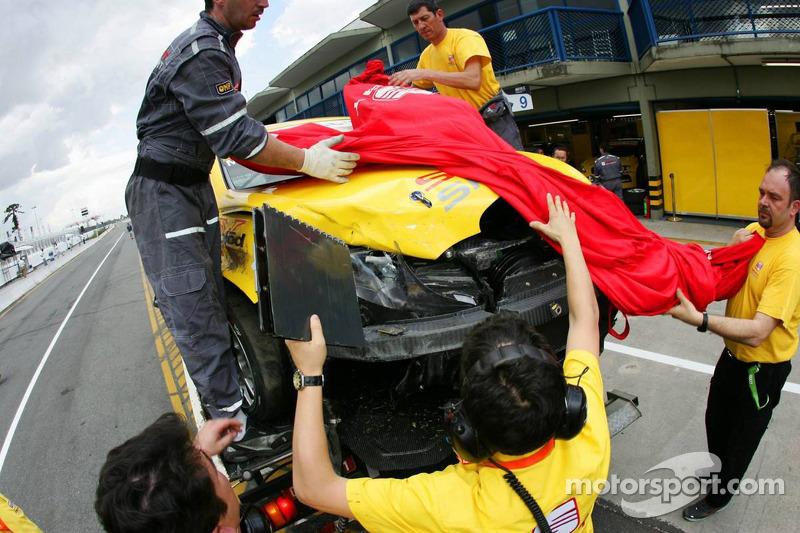 Seat Leon accidenté