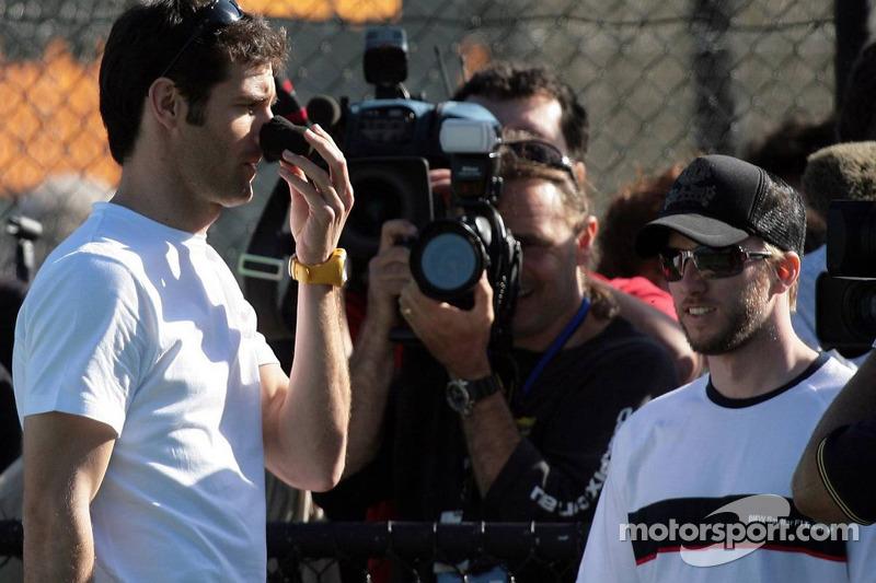 Formula One drivers charity tennis match: Mark Webber, Red Bull Racing and Nick Heidfeld, BMW Sauber F1 Team