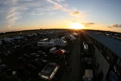 Sunset on the Sebring paddock