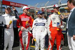 RTL Interview - Nico Rosberg, WilliamsF1 Team, Ralf Schumacher, Toyota Racing, Nick Heidfeld, BMW Sauber F1 Team, Adrian Sutil, Spyker F1 Team, Heiko Wasser