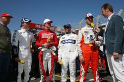RTL Interview - Niki Lauda, Nico Rosberg, WilliamsF1 Team, Ralf Schumacher, Toyota Racing, Nick Heidfeld, BMW Sauber F1 Team, Adrian Sutil, Spyker F1 Team, Heiko Wasser