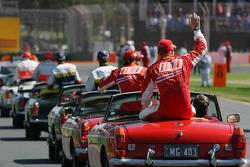 Drivers parade, Kimi Raikkonen, Scuderia Ferrari