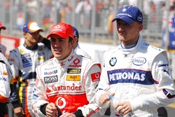 Fernando Alonso, McLaren Mercedes and Robert Kubica,  BMW Sauber F1 Team