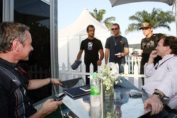 team manager Jonathan Wheatley, Vitantonio Liuzzi, Scott Speed, his brother Alex and sporting director Christian Horner