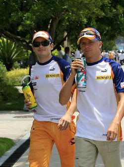 Giancarlo Fisichella and Heikki Kovalainen, Renault F1 Team