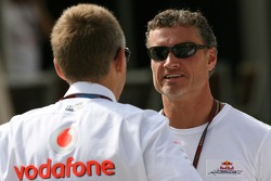 Martin Whitmarsh, McLaren, Chief Executive Officer and David Coulthard, Red Bull Racing