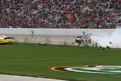 Reed Sorenson slides through the infield grass