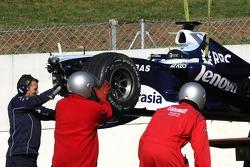 Nico Rosberg, WilliamsF1 Team crashed quite badly