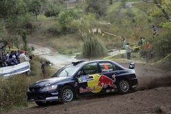 Andreas Aigner and Klaus Wicha, Red Bull Rallye Team, Mitsubishi Lancer Evo IX