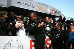 Team Persson celebrating