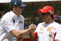 Robert Kubica,  BMW Sauber F1 Team and Felipe Massa, Scuderia Ferrari