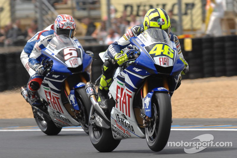 Valentino Rossi y Colin Edwards
