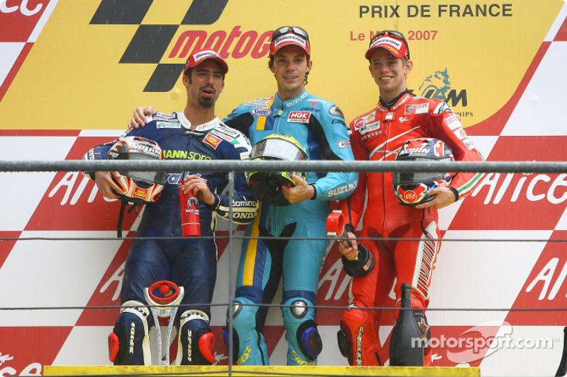 2007 : 1. Chris Vermeulen, 2. Marco Melandri, 3. Casey Stoner