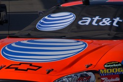 Jeff Burton's car carries the new AT&T logos