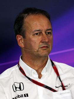 Jonathan Neale, McLaren Chief Operating Officer in the FIA Press Conference
