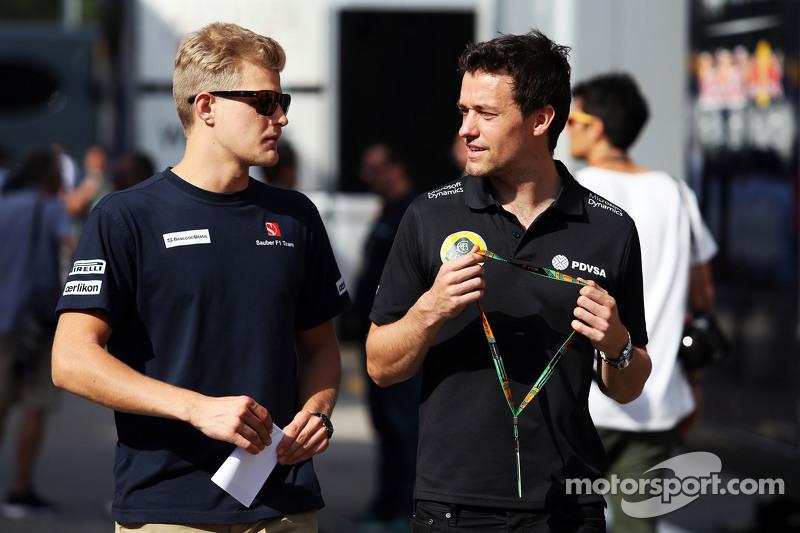 (从左到右)马库斯·埃里克森,索伯车队和乔勇·帕尔默,路特斯F1车队试车手