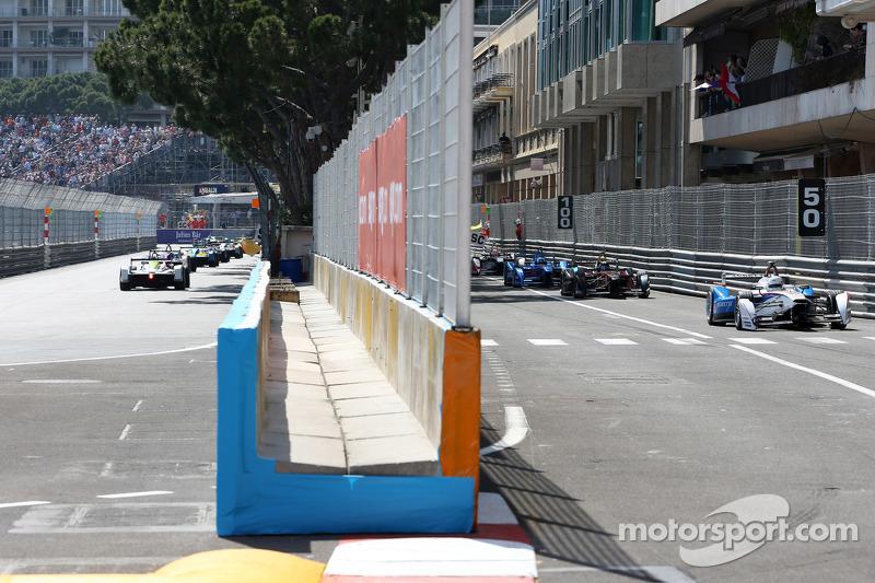 Acción durante la carrera Mónaco ePrix
