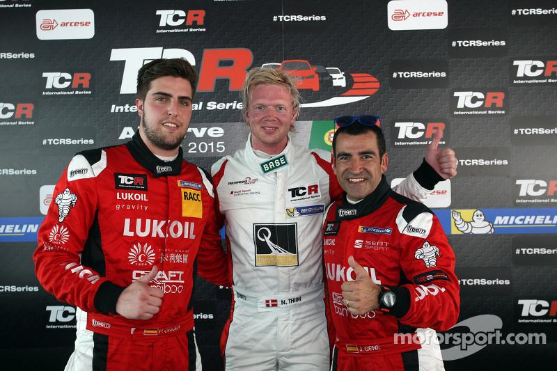 Нікі Тіім, Audi TT, Liqui Moly Team Engstler, поул позиція та 2-га позиція Хорді Жене, SEAT Leon, Cr