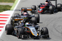 Sergio Pérez, Sahara Force India F1 VJM08 lidera a su compañero, Nico Hulkenberg, Sahara Force India