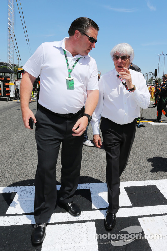 Bernie Ecclestone und Zak Brown, Just Marketing International