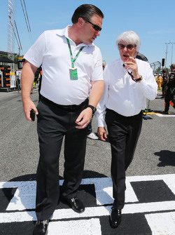 Bernie Ecclestone and Zak Brown, Just Marketing International