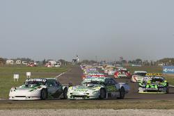 Santiago Mangoni, Laboritto Jrs, Torino; Emiliano Spataro, UR Racing, Dodge, und Mauro Giallombardo, Maquin Parts Racing, Ford
