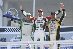 Podium: race winner Facundo Ardusso, second place Agustin Canapino, third place Omar Martinez
