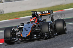 Esteban Ocon, Sahara Force India F1 VJM08 Test Driver running sensor equipment