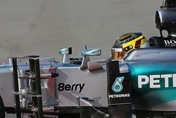 Pascal Wehrlein, Mercedes AMG F1 W06 Piloto de reserva funcionamiento del equipo de sensores