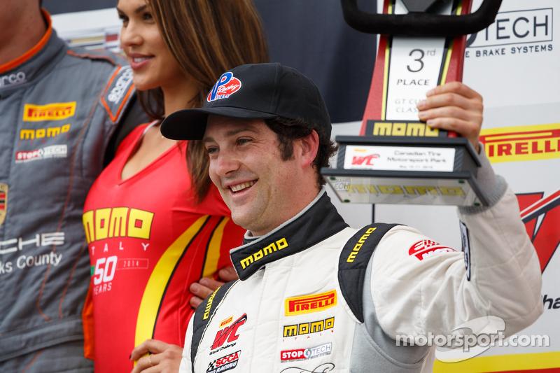 Podium: Third placed #13 ANSA Motorsports Porsche 911 GT3 Cup: Lorenzo Trefethen